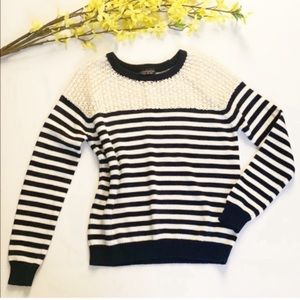 TopShop Striped Crew Neck Sweater Size 4
